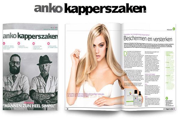 Pauze voor ANKO tijdschrift Kapperszaken