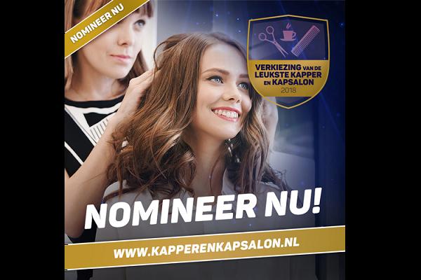 Nomineer nu je/jullie zelf bij de Verkiezing van de Leukste Kapper & Kapsalon