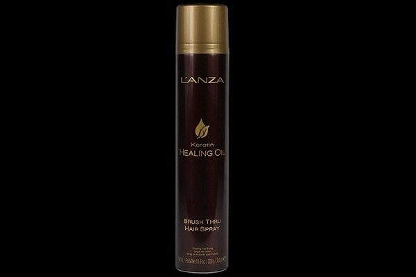 Nieuw van L'ANZA Keratin Healing Oil: Brush Thru Hair Spray