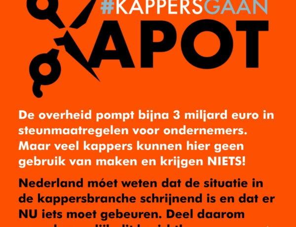 Kappersbranche verzet zich tegen verkeerd beeld van ruimhartige steun overheid