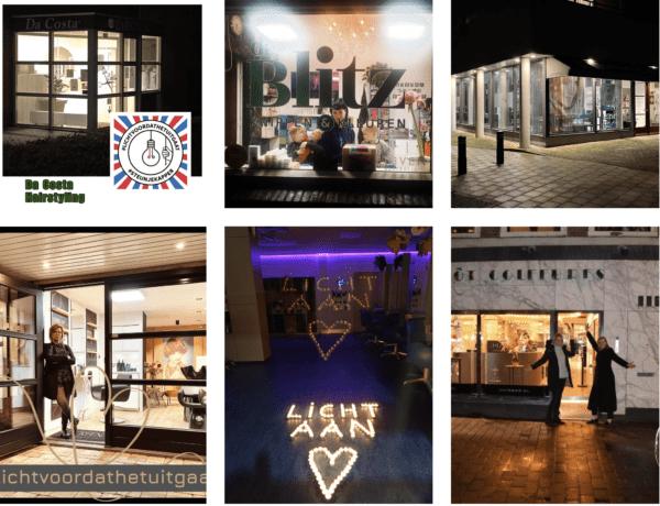#lichtvoordathetuitgaat foto's van de salons!