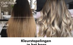 Kleurstapelingen in het haar