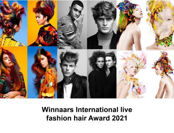 Hairartists Mark van Westerop & Louise Vlaar winnaars van International live fashion hair Award 2021